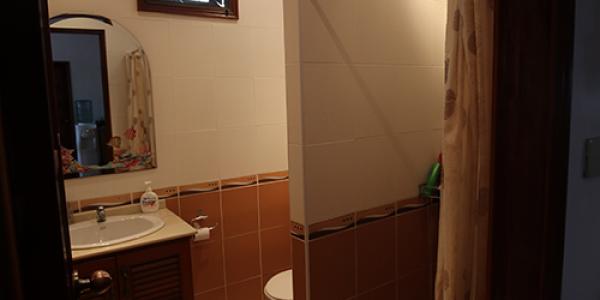 Bad med inngang frå stove/kjøkken