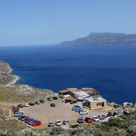 Parkeringsplassen ved Balos strand og lagune