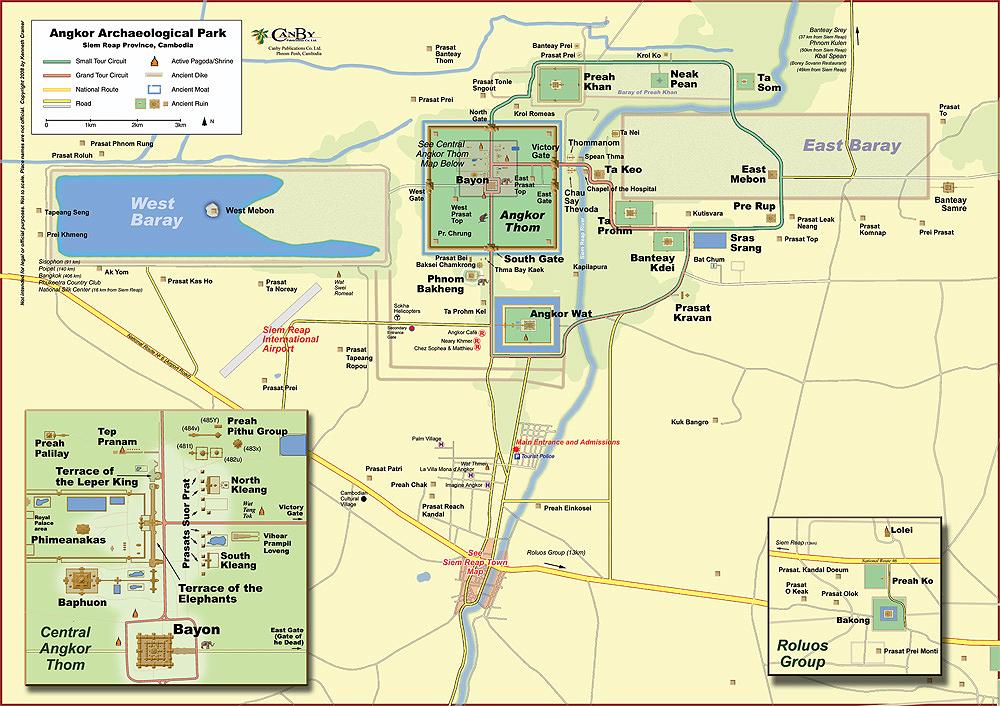 Kart-over-Tempel-i-Siem-Reap